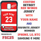 Custom DETROIT RED WINGS Jersey w NAME Phone Case for Samsung s 6 Edge 5 Note 4