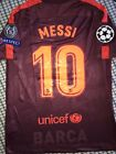 BARCELONA MESSI CHAMPIONS LEAGUE OFFICIAL THIRD jersey SIZE S, M, L or XL