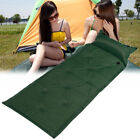 Outdoor Self-Inflating Air Mat Mattress Pad Hiking Sleeping Bed +Attached Pillow