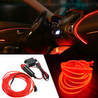 3M LED EL Wire Neon Glow String Strip Light Rope Controller Car Party Decor Gift