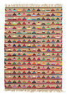Brando Natural Jute and Multi Coloured Cotton Floor Area Rug and Runners