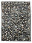 Traditional Comma Design Yggdrasil Floor Area Rugs and Runners Navy