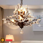 Vintage Ceiling Pendant Lights Crystal Modern Chandelier LED Fixture Retro Metal
