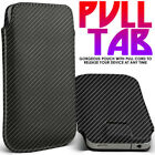 Quality Luxury Leather Pull Tab Flip Pouch Sleeve Phone Case Cover✔CARBON BLACK günstig