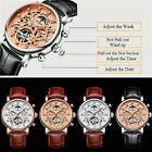 KINYUED JYD-J026 Leather Mechanical Wristwatches Men