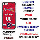 Atlanta Braves Red Baseball Jersey Phone Case personalized for Samsung etc