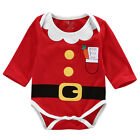 UK Stock Christmas Newborn Baby Boy Girl Infant Bodysuit Romper Jumpsuit Outfits