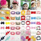 10 Style Baby Girl Flower Bow Hair Band Turban Knot Rabbit H