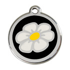 Red Dingo Dog ID Pet Tag Charm FREE Personalized Engraving DAISY FLOWER