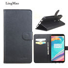Protective PU Leather Wallet Style Cover Case For 6.01'' OnePlus 5T Mobile Phone