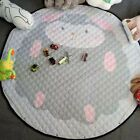 Baby Kids Play Mat Round Crawl Large Carpet Rugs Toys Storage Pouch Bags 1.5m