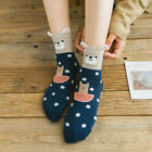 Cartoon Feather Women Soft Cotton Socks Yarn Mid-calf Length Sock Fashion O9962