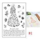 Lovely Girl Transparent Clear Rubber Stamp Sheet Cling Scrapbooking DIY Craft