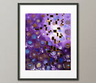 Lg.Canvas and Fine Art Prints Purple Blue Contemporary Painting Abstract Modern