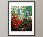 Lg.Canvas or Fine Art Prints Contemporary Red Painting Modern Palette Knife