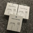 Genuine Official Apple iPhone 4S 4 3GS iPad 3 Charger USB Lead Data Sync Cable