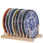 Dish Drainer Wooden Dinner Plates Cup Drying Rack Stand Holder-Kitchen Organizer