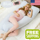 U Shape Pregnancy Body Pillow Maternity Comfort Cover Full Body Support-USA image