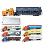 1:48 Scale Alloy Sliding Container Truck Construction Vehicle Cars Model Toy