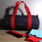 Personalised Varsity Barrel Gym Bag, Add Your Name Or Initials
