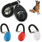 Pet Training Clicker For Dogs or Puppies with Stretch Cable Keyring UK STOCK
