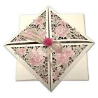 Ivory Wedding Invitations Eco Rustic Laser Cut Rose String Day/Eve Free P*P