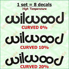 8 X Wilwood Brake Caliper Decal Sticker Emblem Logo Vinyl High Temp Design #1 A