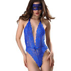 Deep V Sexy Lingerie Sexy Ladies Lace Backless One Piece Babydoll Mesh Eye Mask