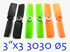 "4Pairs NEW 3""x3 3030 Propeller ⌀5mm Hole For Quadcopter Multicopter (US SELLER)"