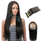 Malaysian 360 Lace Frontal Closure w/8A Straight Human Hair Extensions 300G
