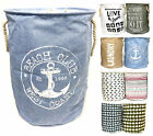 Quality Fabric Round Laundry Hamper Basket