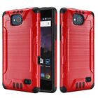BRUSHED SLIM HYBRID PC TPU SHOCKPROOF ARMOR COVER CASE FOR ZTE Tempo MAJESTY PRO