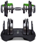1UP Adjustable Dumbbells Weight Fitness 50 Lbs Workout Set Gym New