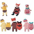 Baby Boy Girl Carnival Fancy Dress Party Costumes Outfit Romper Clothes+Hat Set