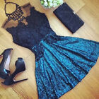 Women Lady's  Summer Casual Prom Evening Party Cocktail Lace Short Mini Dress