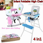 4 in1 Baby Highchair Infant High Feeding Seat Table Chair Foldable Safty Chair