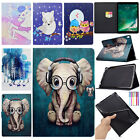 For Ipad 9.7 2017/mini 4/air 2 Smart Painted Case Leather Magnet Card Slot Cover
