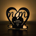 Personalised Tea Light Heart Candle Holder For NAN Birthday Mother's Day Gift