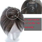 Mesh Hole Remy Human Hair Toupees Hairpiece Closures replacement For Women 8''