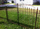 4't x 7'w Wrought Iron Center Divide Gate