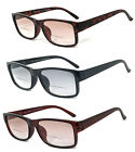 1 or 2 Pairs Retro Square Frame Men Women Tinted Lens Bifocal Reading Sunglasses