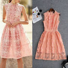 2018 Women Dress Runway Lace Luxury Occident Wholesale Dresses New Sleeveless