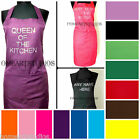 PERSONALISED DIAMANTE CUSTOM PRINTED KITCHEN CHEF APRON OVERALLS TABARD COOKING