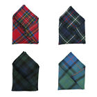 Ingles Buchan 100% Wool Tartan Dress Pocket Handkerchiefs 10.5 x 10.5 Inches