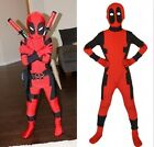 X-man kinder deadpool cosplay kostüm superheld junge karneval party kleider top