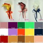 Real Touch Calla Lily Boutonniere Wedding Ceremony Party - CHOOSE YOUR COLOR