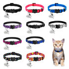 Safety Personalized Breakaway Cat Collars with Bell for Cat
