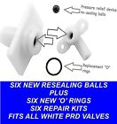 SIX Pressure Relief Device PRD 82800450 REPAIR KITS Fits all Triton showers