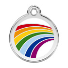 Red Dingo Dog Cat Pet ID Tag Charm FREE Personalized Engraving RAINBOW
