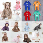 Baby clothes romper jumpsuit one piece soft warm sleepwear kids outfit set 0-18M